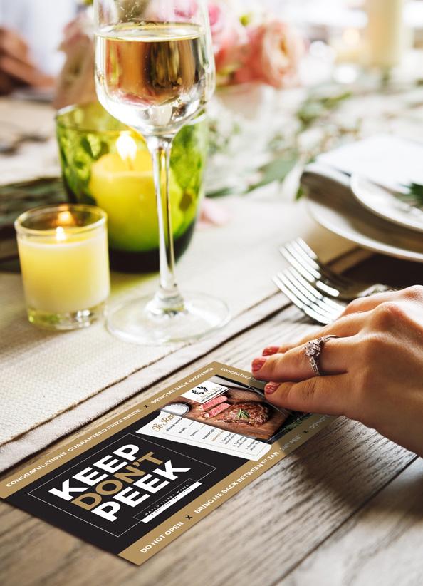 caesars menu scratchcard