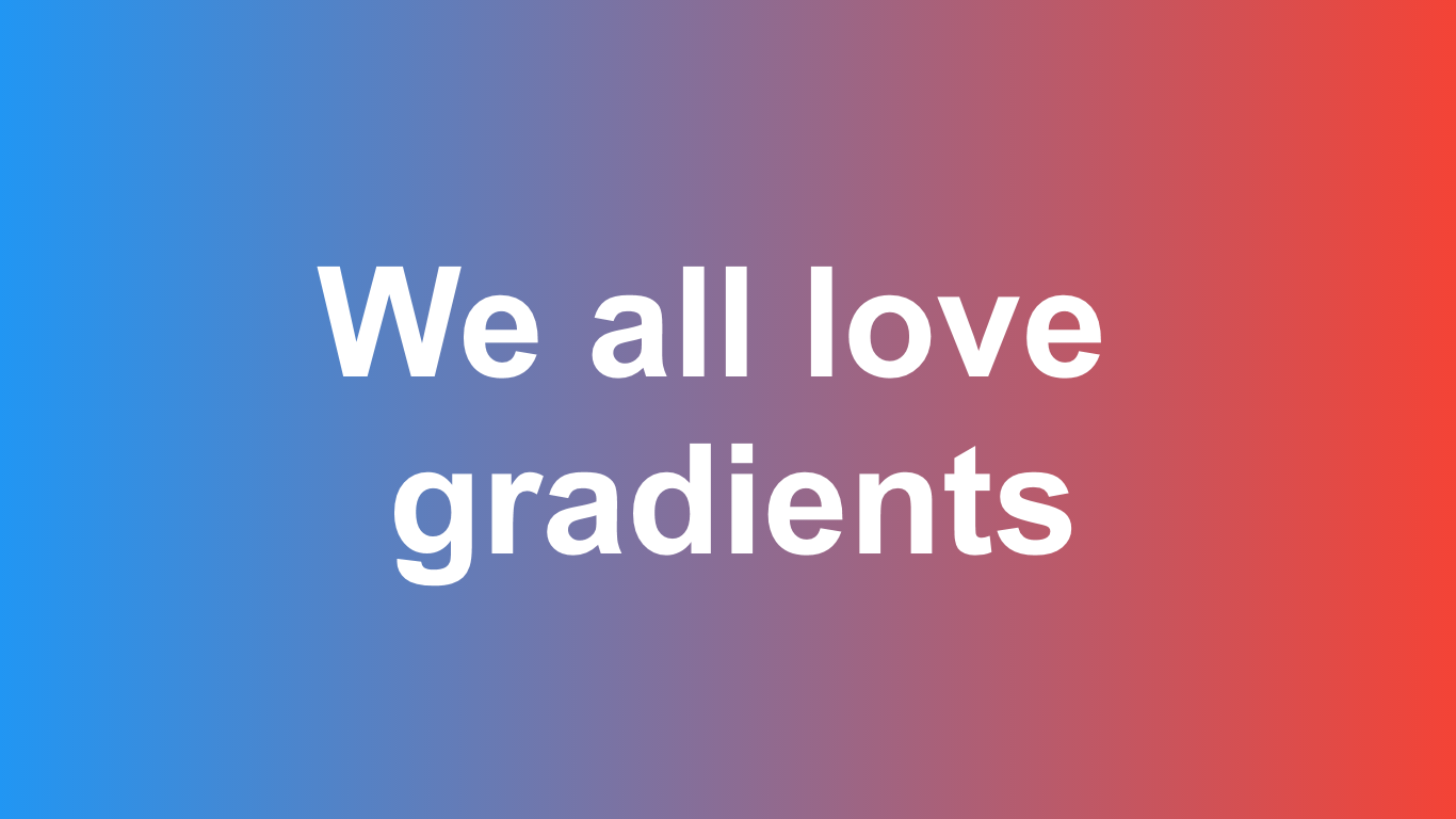 Gradients trends for 2020 MyAudience