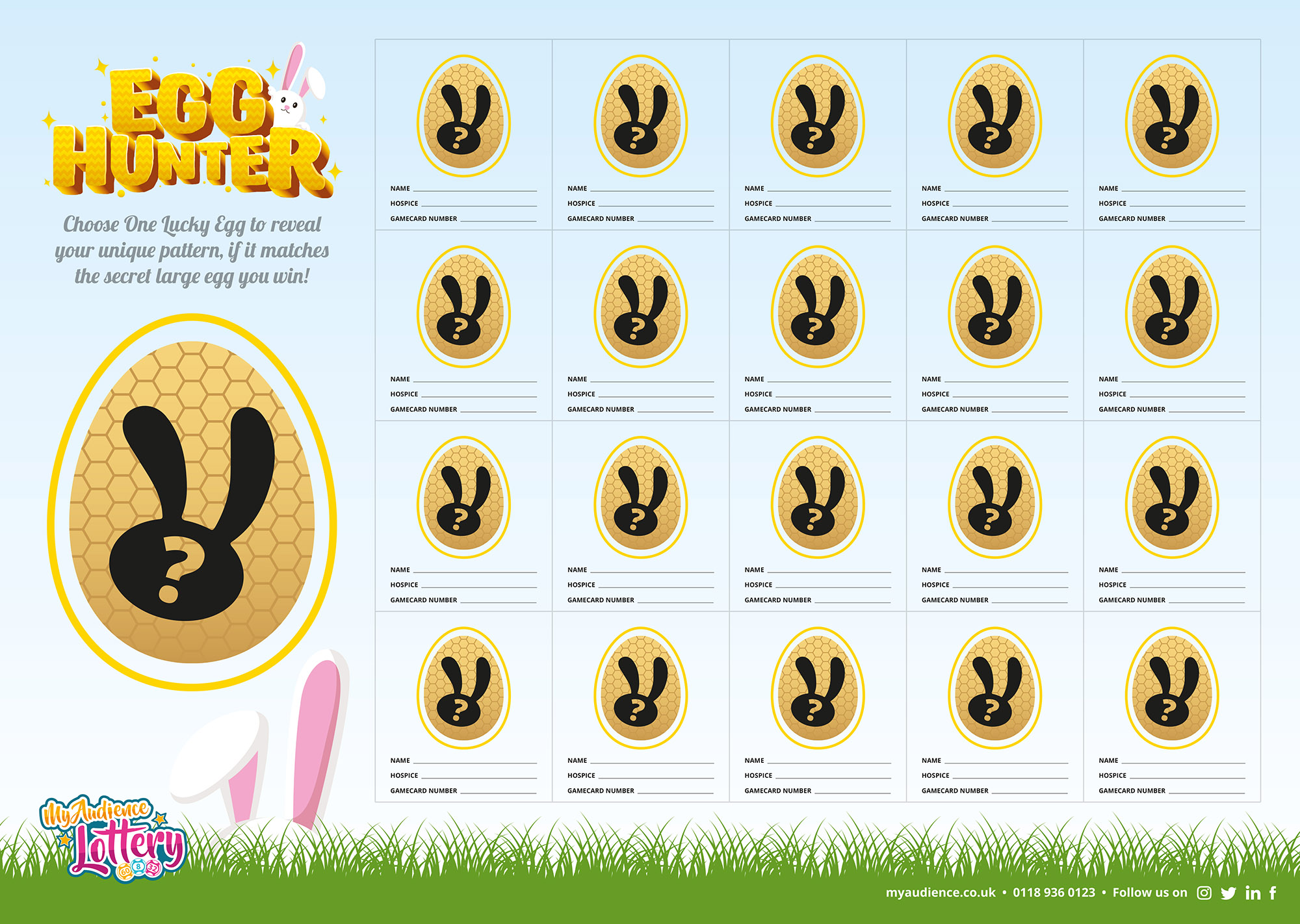 MyAudience Egg hunter scratchcard