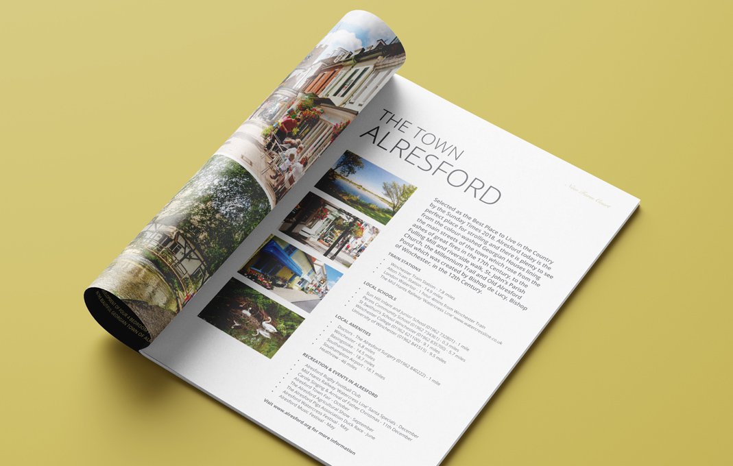 New homes brochure design