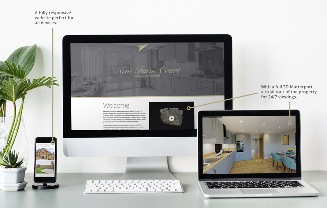 Capella homes new build web design