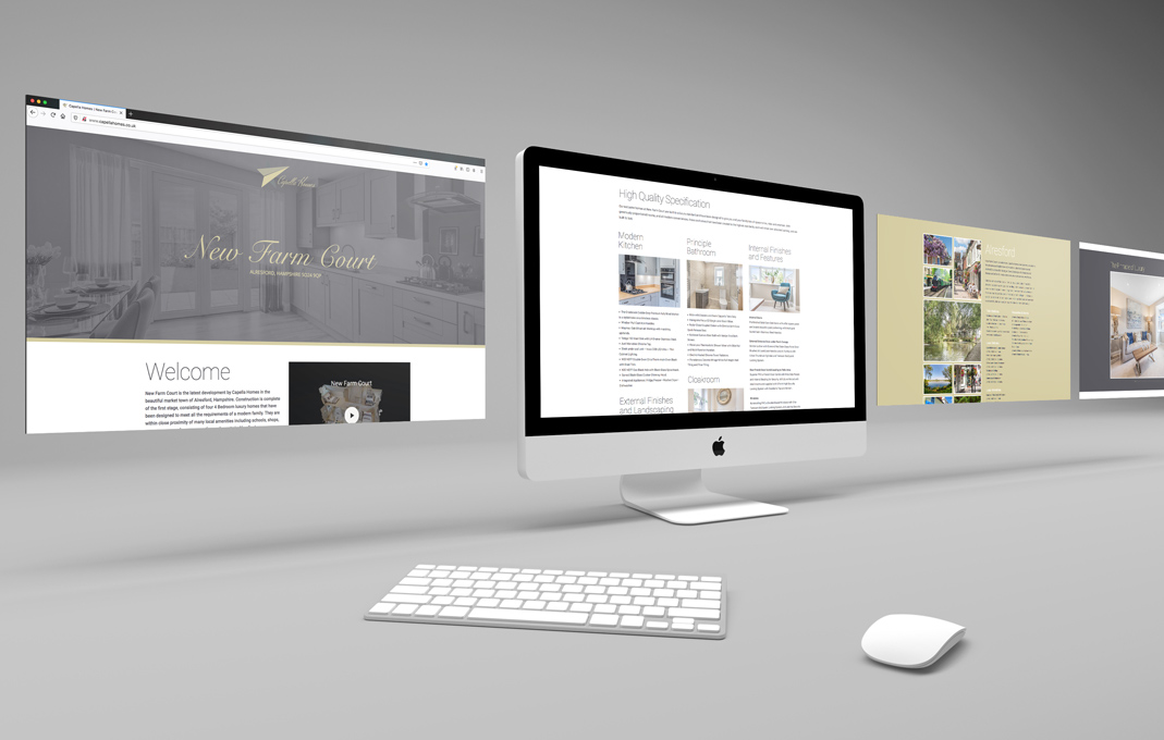Capella new homes web design