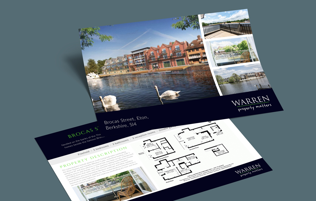 Warren estate agent flyer