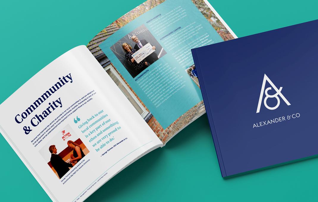 Alexander and co estate agents marketing brochure