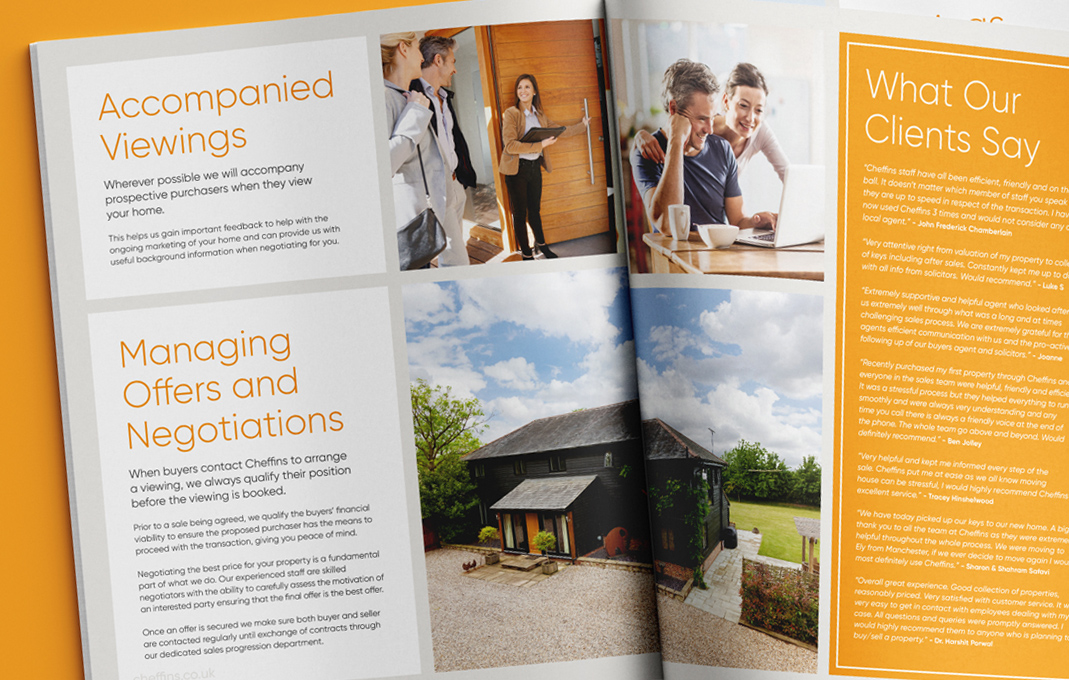 Cheffins estate agency marketing brochure