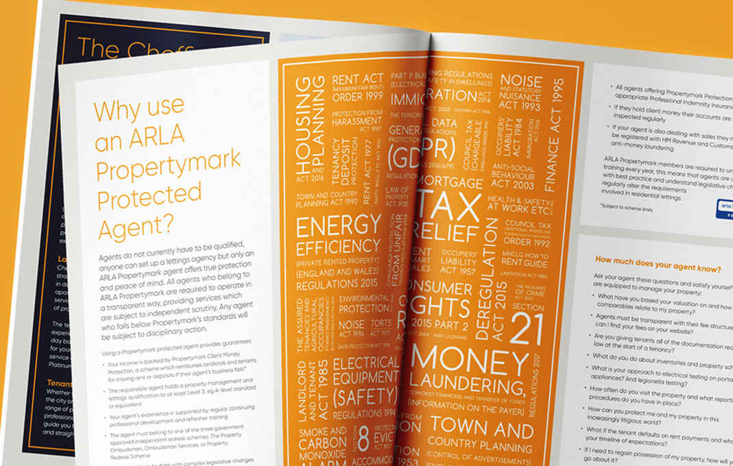 Cheffins estate agency marketing brochure