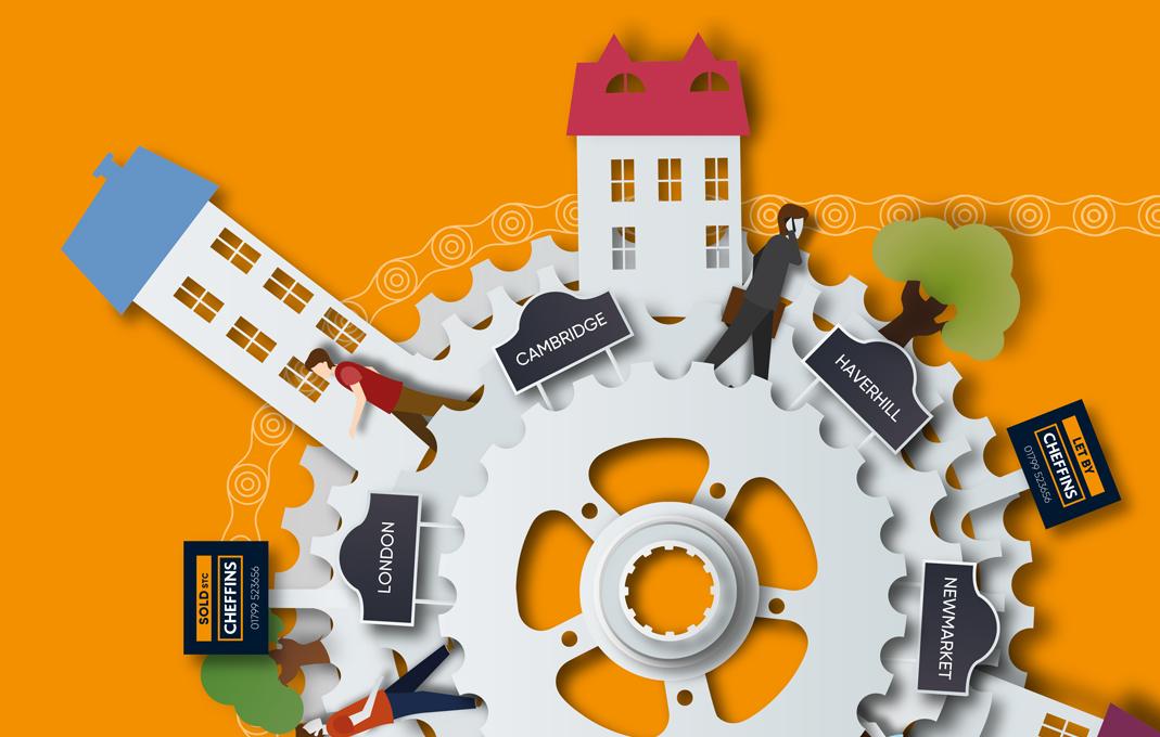 Cheffins estate agent marketing graphics