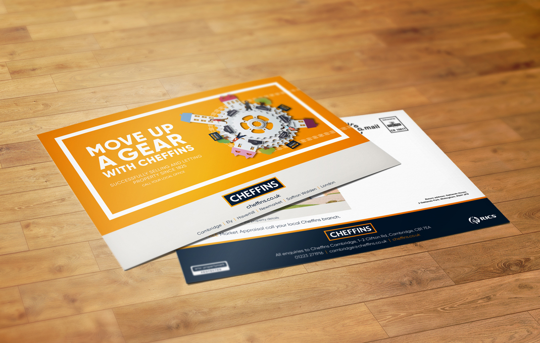 Cheffins estate agent marketing flyers