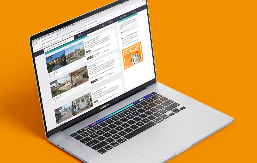 Cheffins estate agent digital marketing