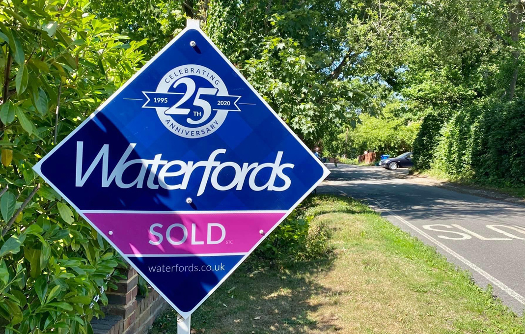 Waterfords estate agent for sale board
