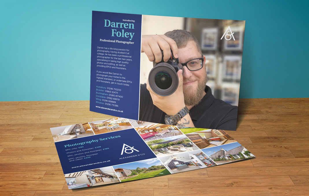 Alexander and Co professional property photography flyer